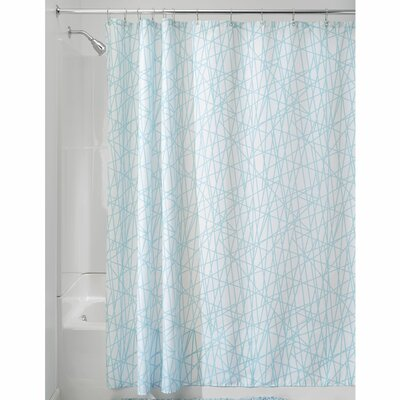 Abstract Shower Curtain Color: Aqua