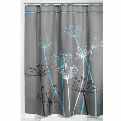 Nardi Shower Curtain Color: Gray/Blue