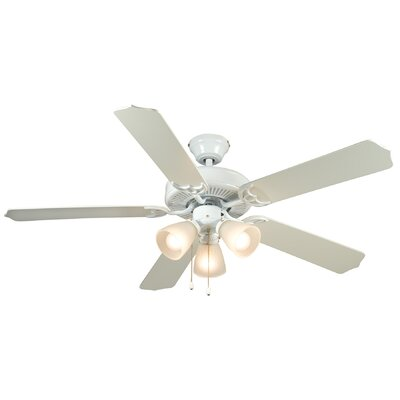 52 Palladium 5-Blade Ceiling Fan Finish: White/Washed Pine