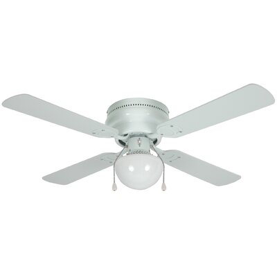 42 Levay 4-Blade Ceiling Fan Finish: White