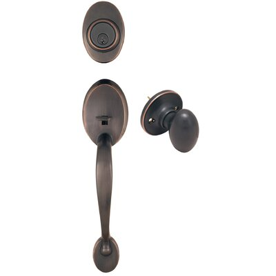 Jemison Cordova Front Door Handle Set Finish: Classic Bronze