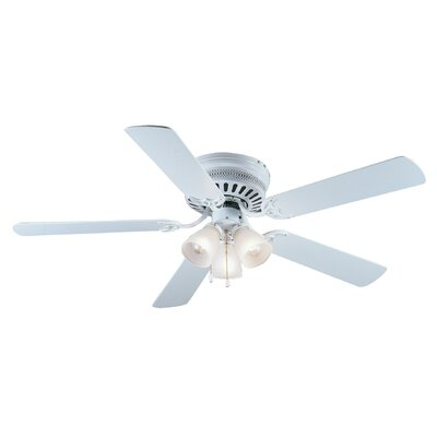 52 Bermuda 5-Blade Ceiling Fan Finish: White/Bleached Oak