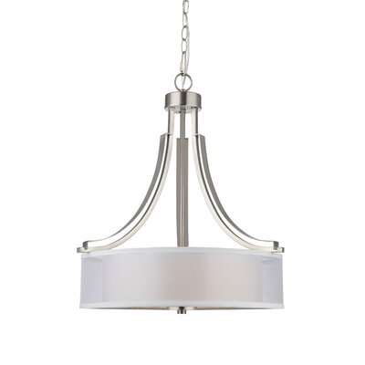 El Dorado 3-Light Drum Chandelier Finish: Satin Nickel