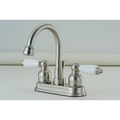 Standard Bathroom Faucet Double Handle Finish: Satin Nickel