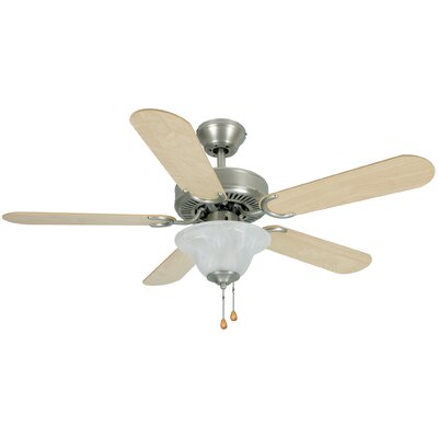 42 Wyndham 5-Blade Ceilling Fan Finish: Medium Oak