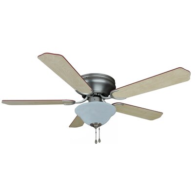 52 Jupiter 5-Blade Ceiling Fan Finish: Satin Nickel