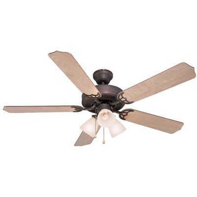 52 Palladium 5-Blade Ceiling Fan Finish: Light Maple/Cherry
