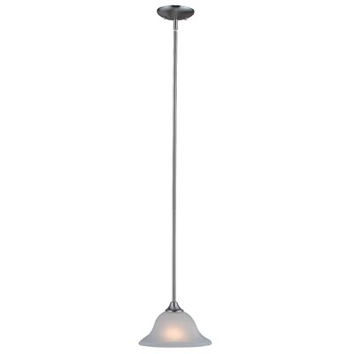 Dover 1-Light Mini Pendant Base Finish: Satin Nickel