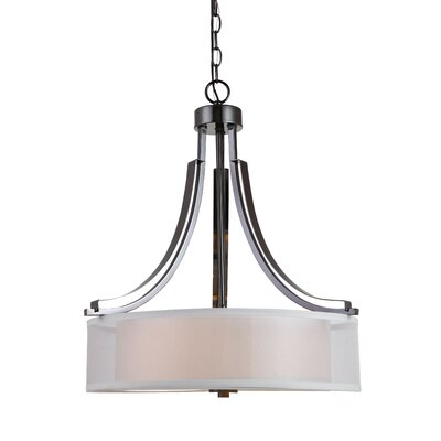 Casselman 3-Light Drum Chandelier Finish: Ebony Glaze