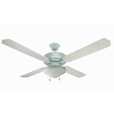 52 Jamaica 4-Blade Ceiling Fan Finish: White