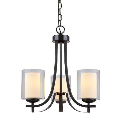 Nettie 3-Light Candle-Style Chandelier Finish: Ebony Glaze