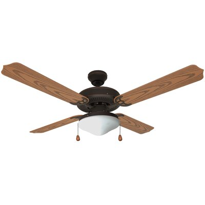 52 Jamaica 4-Blade Ceiling Fan Finish: Brown
