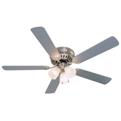 52 Bermuda 5-Blade Ceiling Fan Finish: Silver/Washed Pine