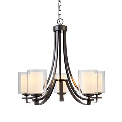 Casselman 5-Light Shaded Chandelier Finish: Ebony Glaze