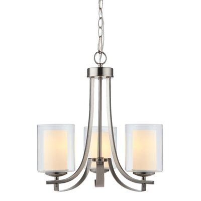 Nettie 3-Light Candle-Style Chandelier Finish: Satin Nickel