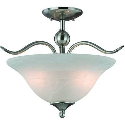 Dover 2-Light Semi Flush Mount