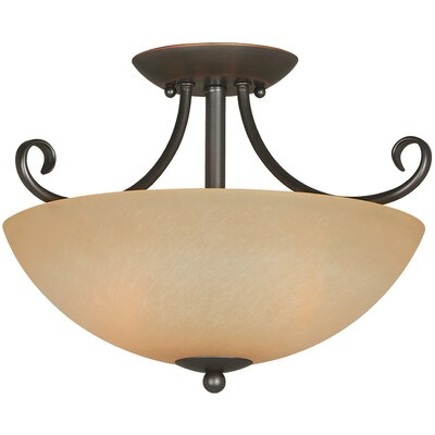 Berkshire 2-Light Semi Flush Mount