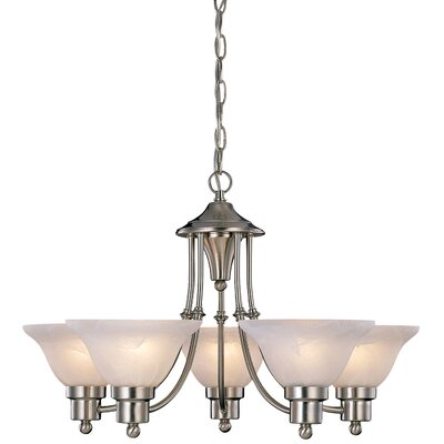 Bristol 5-Light Shaded Chandelier