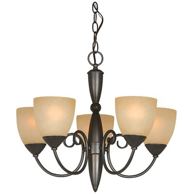 Berkshire 5-Light Shaded Chandelier