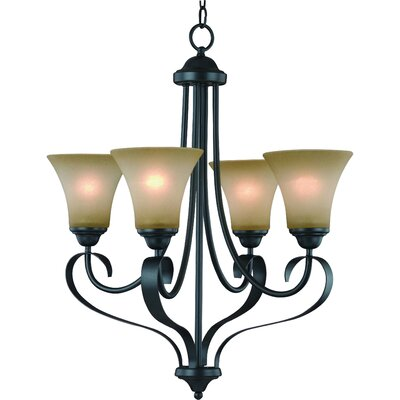 Palermo 4-Light Shaded Chandelier