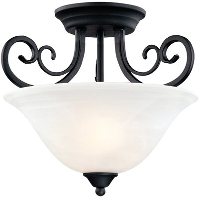 Tuscany 2-Light Semi Flush Mount