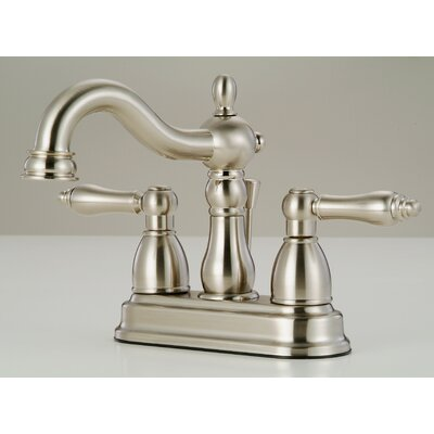 Lavatory Standard Bathroom Faucet Double Handle Finish: Satin Nickel