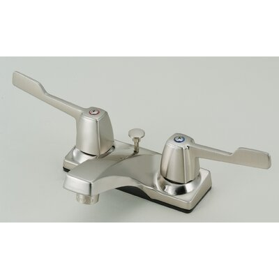 Lavatory Standard Centerset Bathroom Faucet Double Handle Finish: Satin Nickel