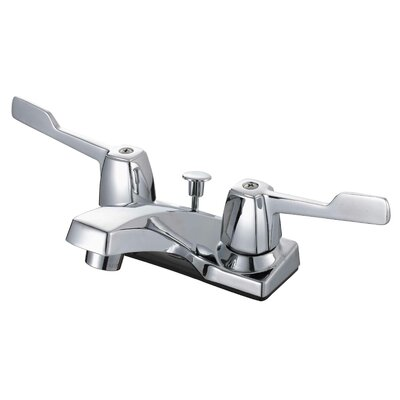 Lavatory Standard Centerset Bathroom Faucet Double Handle Finish: Chrome