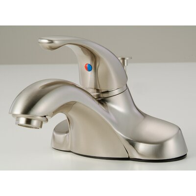 Lavatory Standard Bathroom Faucet Single Handle Finish: Satin Nickel