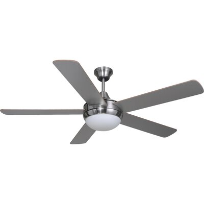 52 Riverchase 5-Blade Ceiling Fan Finish: Satin Nickel