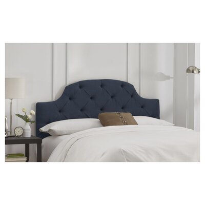 Tufted Upholstered Panel Headboard Size: Full, Color: Navy