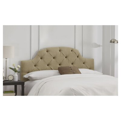 Tufted Upholstered Panel Headboard Size: Full, Color: Sandstone