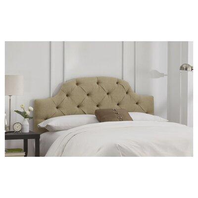 Skyline Furniture Linen Tufted Upholstered Headboard - Size: Queen, Finish: Sandstone