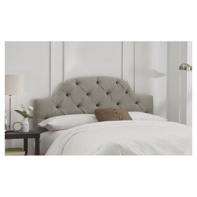 Tufted Upholstered Panel Headboard Size: Full, Color: Grey