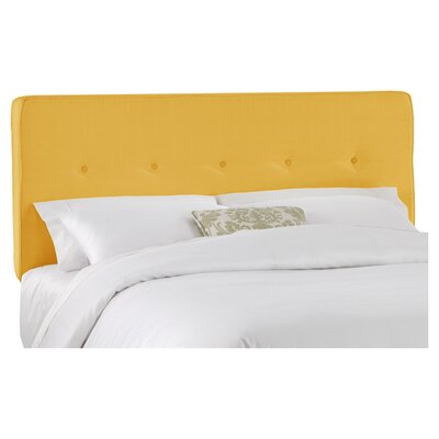 Upholstered Panel Headboard Size: King, Upholstery: French Yellow
