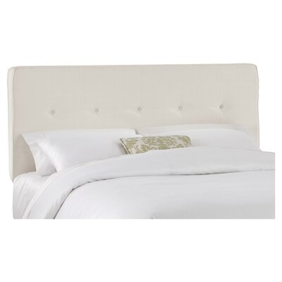 Upholstered Panel Headboard Upholstery: Talc, Size: Full