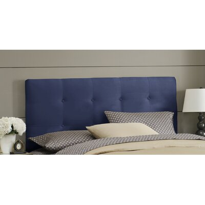 Double Button Tufted Upholstered Panel Headboard Size: Full, Color: Lazuli