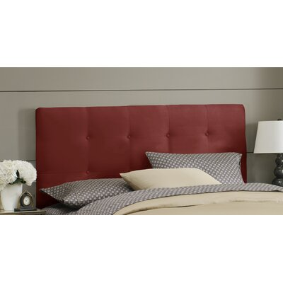 Double Button Tufted Upholstered Panel Headboard Size: King, Color: Red