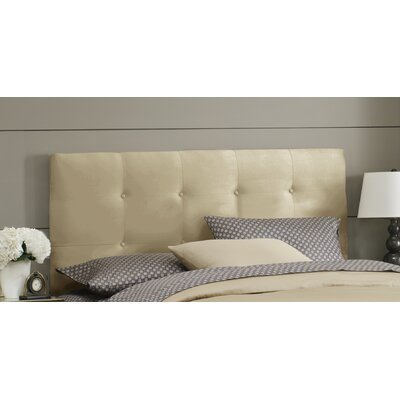 Double Button Tufted Upholstered Panel Headboard Size: Twin, Color: Oatmeal