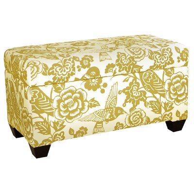 Upholstered Storage Ottoman Upholstery: Canary Maize