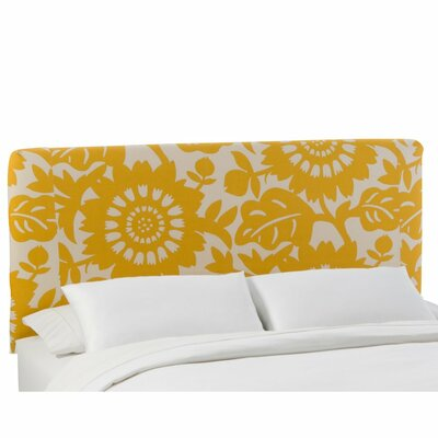 Slip Cover Gerber Upholstered Panel Headboard Size: Queen, Color: Gerber Sungold