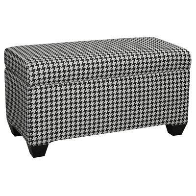 Upholstered Cotton Berne Storage Ottoman