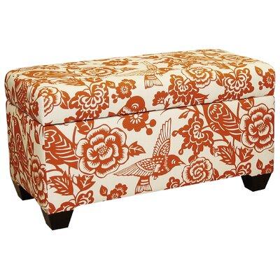 Upholstered Storage Ottoman Upholstery: Tangerine