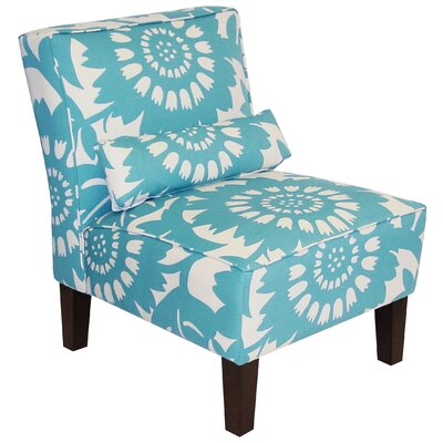 Thurston Slipper Chair Upholstery: Turquoise