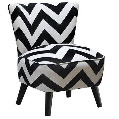 Mid Century Panama Wave Slipper Chair Color: Zig Zag Black and White