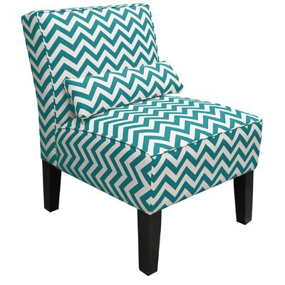 Skyline Furniture Zig Zag Fabric Slipper Chair - Color: True Turquoise at Sears.com