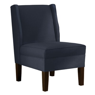 Wingback Chair Upholstery: Klein Midnight
