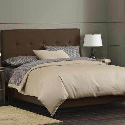 Button Tufted Upholstered Panel Bed Size: Full, Color: Chocolate