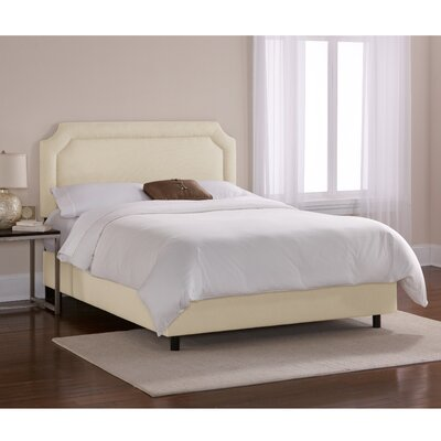 Chambers Upholstered Panel Bed Upholstery: Navy, Size: Full