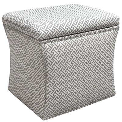 Cross Section Storage Ottoman Upholstery: Charcoal